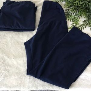 Lot of 3 Greys Anatomy maternity navy scrub pants